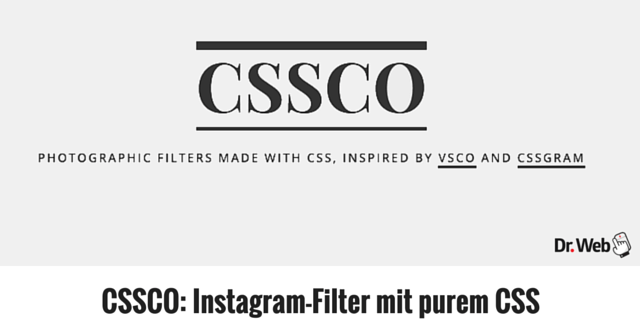 CSSCO: Instagram-Filter mit purem CSS