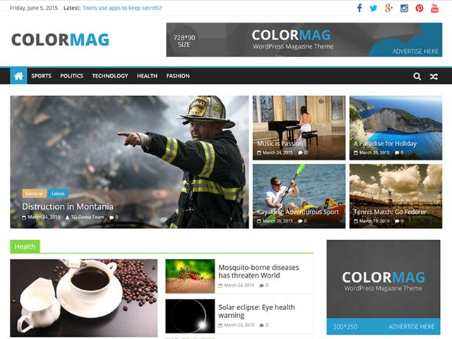 WordPress Theme-Verzeichnis color-mag
