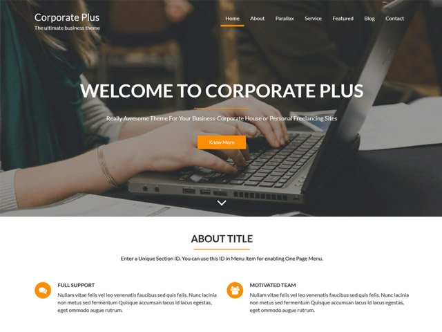 WordPress Theme-Verzeichnis corporate