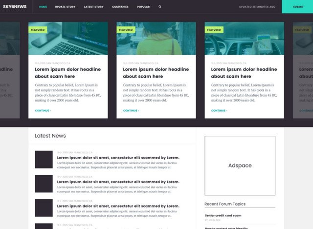 news site template