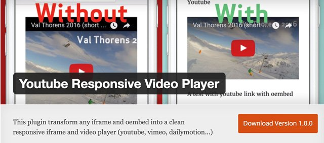 Youtube Responsive Video Player