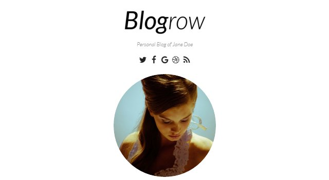 Blogrow: Clean & Modern Personal Blog WordPress Theme