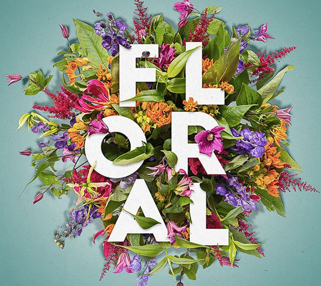 floral text effect