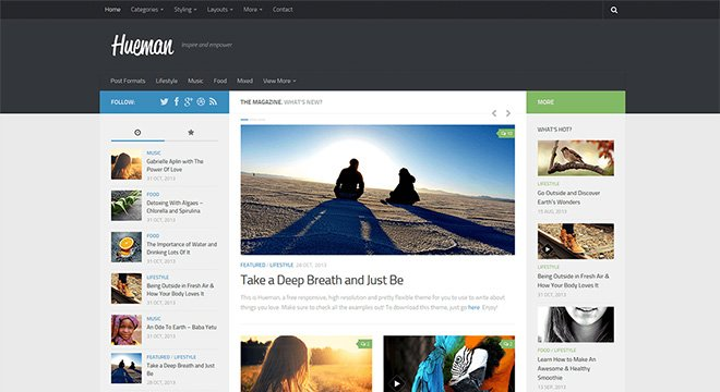 Gratis und voller Features: Das Hueman WordPress-Theme