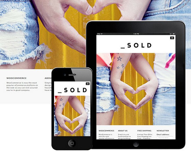 sold woocommerce theme