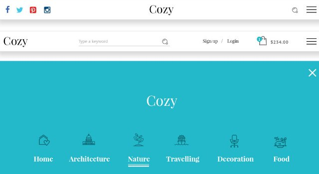 Cozy: Clean & Minimal Website PSD UI Kit