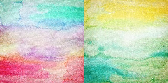 bright watercolor textures