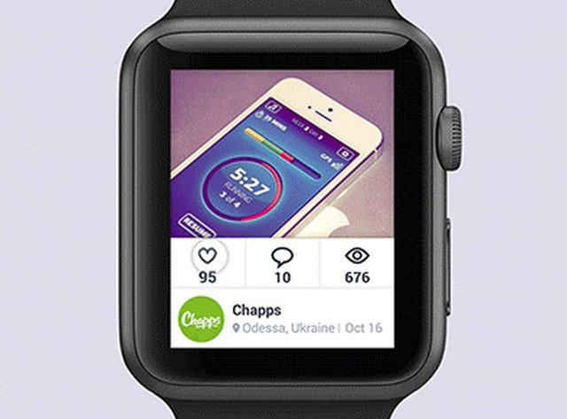 dribbble app for apple watch