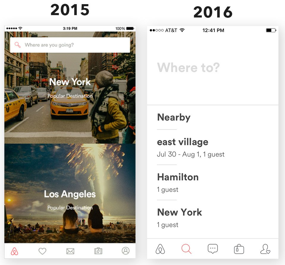 Airbnb-App-neues-Design