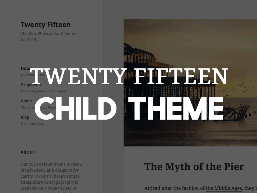 Screenshot Twenty Fifteen Child-Theme