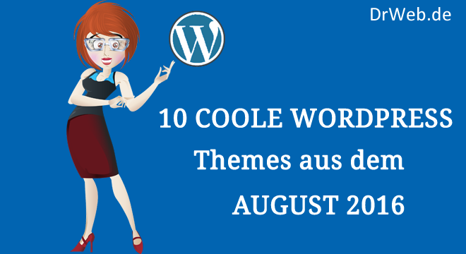 10 handverlesene WordPress-Themes aus dem August 2016