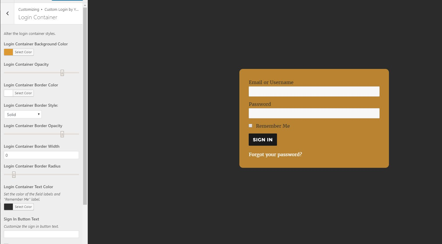 Custom WP Login