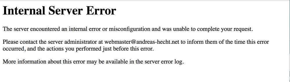 Der Internal Server Error