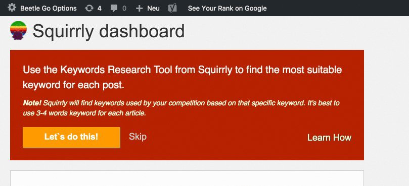 Das Keyword Research Tool