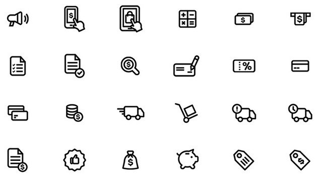 black-stroke-icons