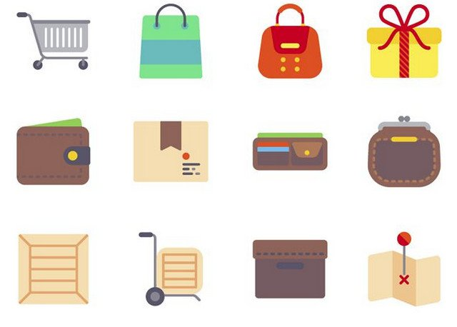 flat-ecommerce-icon-set