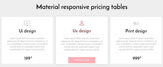 material-rrsponsive-pricing-table