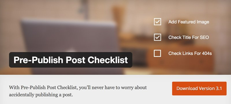 Pre-Publish-Post-Checklist