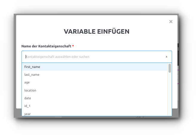 Variablen E-Mail Personalisierung