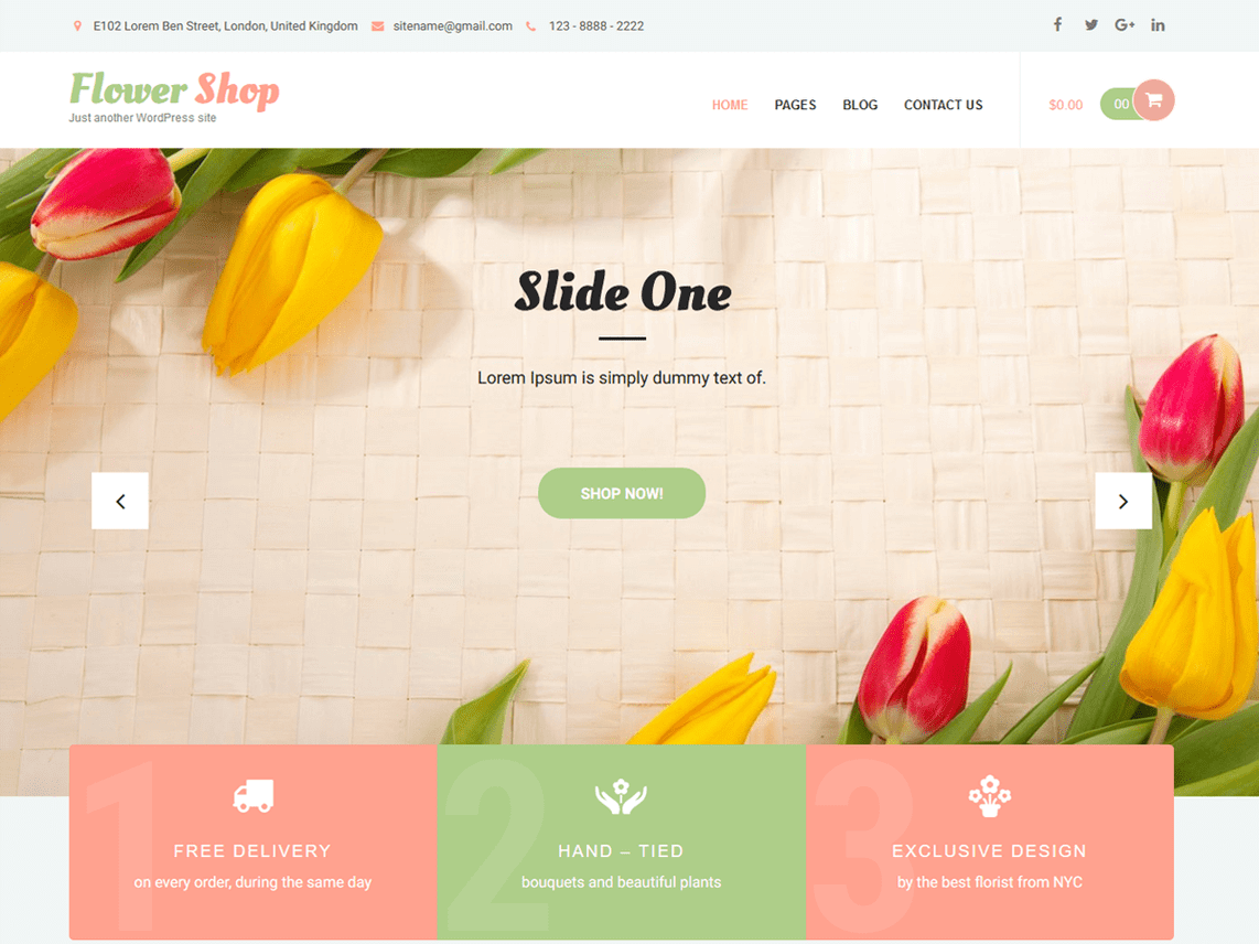 Flower Shop Lite Theme