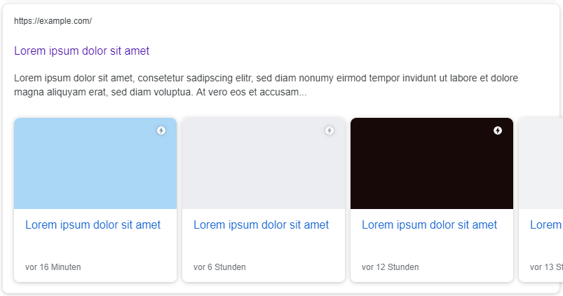 Google AMP Karussell