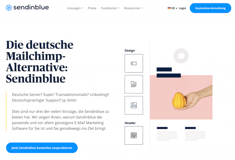 die deutsche mailchimp alternative: Sendinblue.