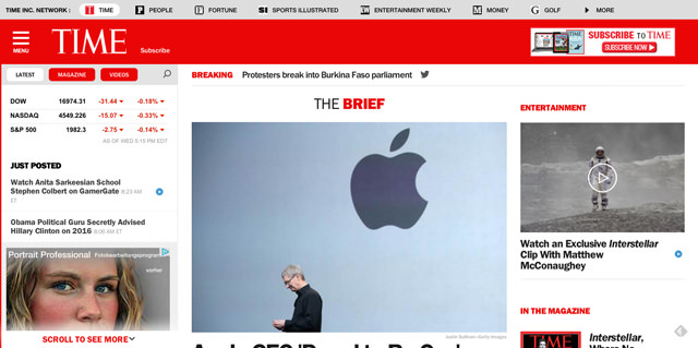 TIME - Time Magazine Online