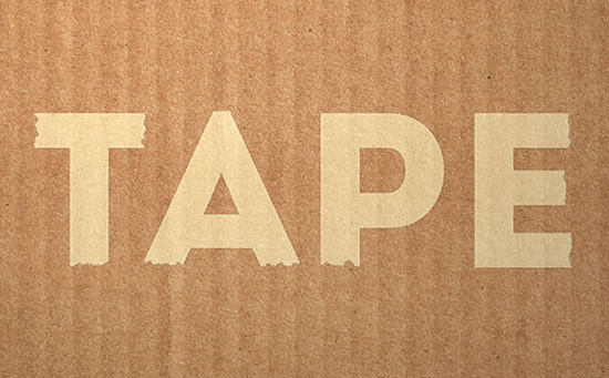tape--style-text-effect
