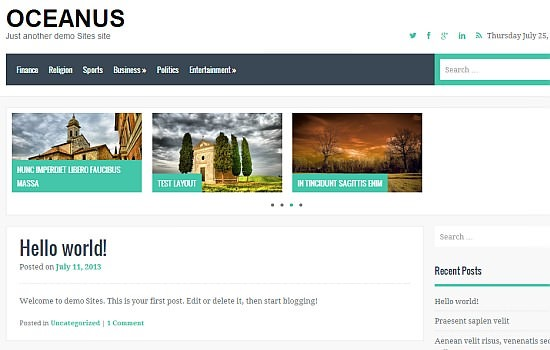 Oceanus: business theme.