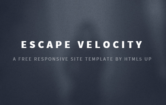 Escape Velocity HTML5 Template