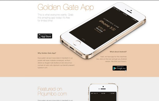 Golden Gate PSD template