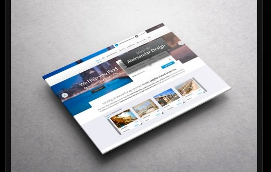 Travel Booking PSD template