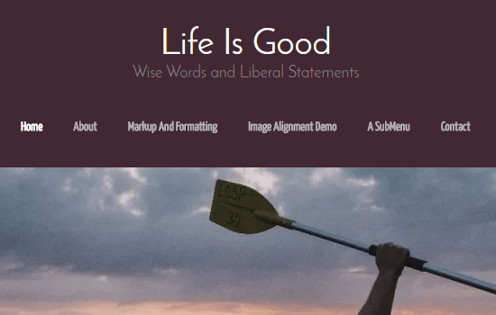 Life Is Good Flat Theme