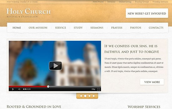 Church Website PSD tempate