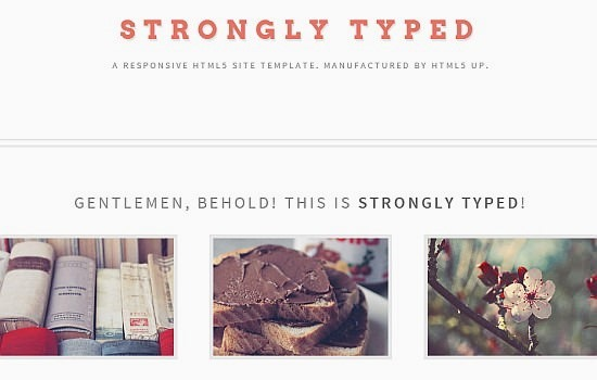 strongly typed a responsive html5 site template
