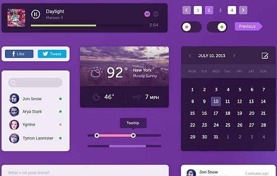 Purple UI Kit