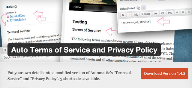 Auto Terms of Service and Privacy Policy