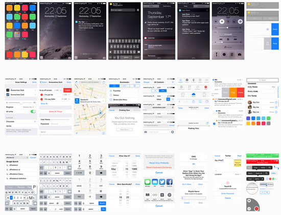 ios8 ui pack