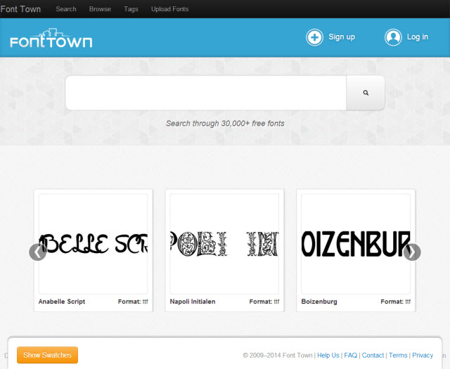 fonttown-homepage