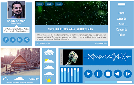 Winter UI Kit 2015