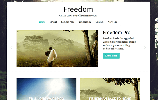 Freedom: Responsive Photo Blogging Theme
