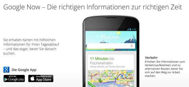 Das Cards-Design von Google Now