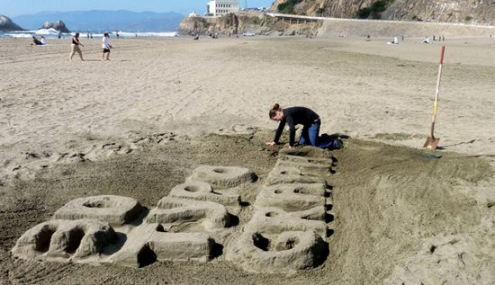 3d type from sand