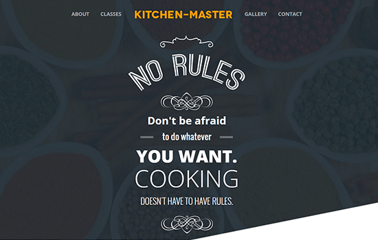 Kitchen Master: Flat Bootstrap Template