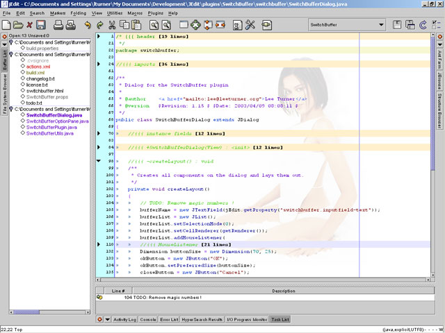 jEdit - HTML-Editor für Windows
