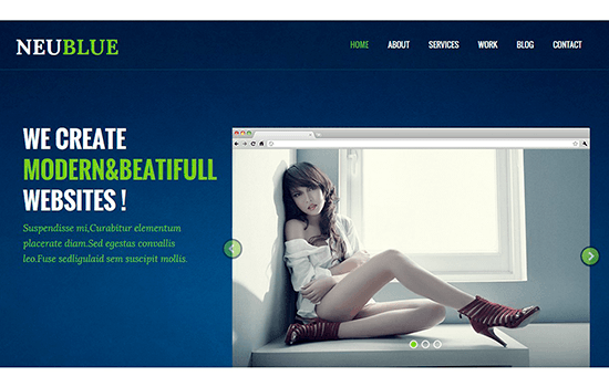 Neu Blue: Corporate Responsive Web Template