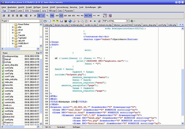 Phase5 HTML-Editor für Windows