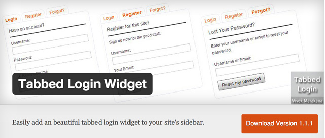 Das Tabbed Login Widget für WordPress