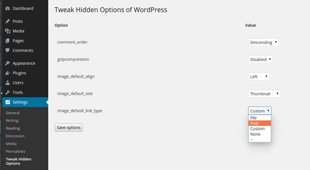 Die Funktionen von Tweak Hidden Options