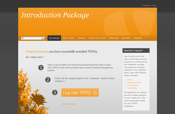 TYPO3-Standard-Template